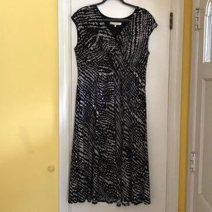Evan Picone black white print dress